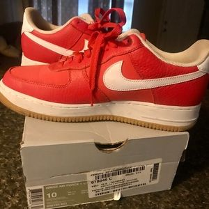 Nike Habanero Red Air Force 1s